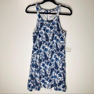 Altar'd State Blue Floral Dress L EUC